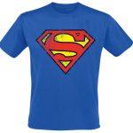 blue superman t shirt