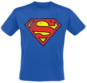 blue superman t shirt