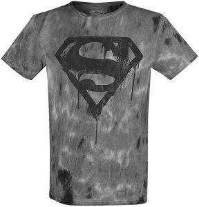 dripping logo superman t shirt
