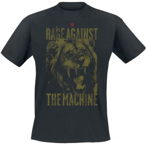 rage against the machine lion t shirt