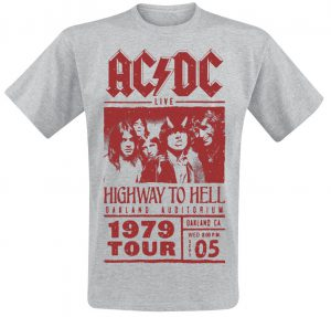 highway to hell red photo t shirt