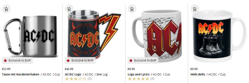 AC / DC cups and mugs