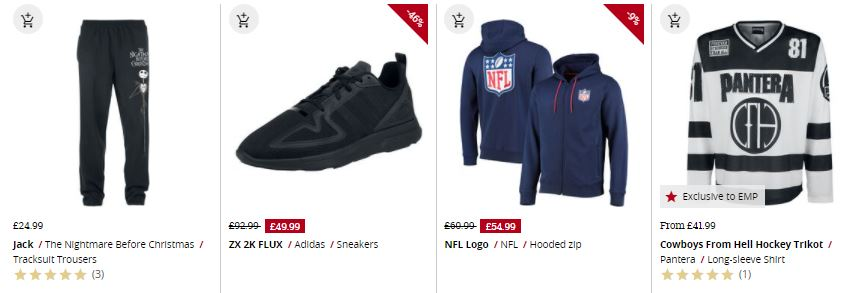 sports brands in the emp online shop