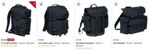 bags and backpacks fro camping and festivals