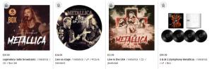 metallica box sets on cd and vinyl
