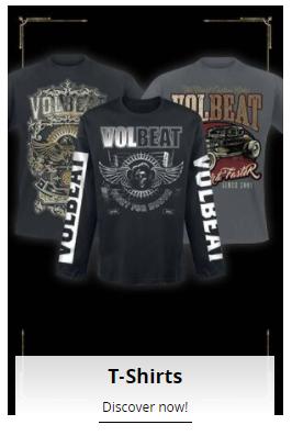selection of volbeat t shirts at emp