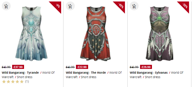 selection of world of warcraft dresses at emp