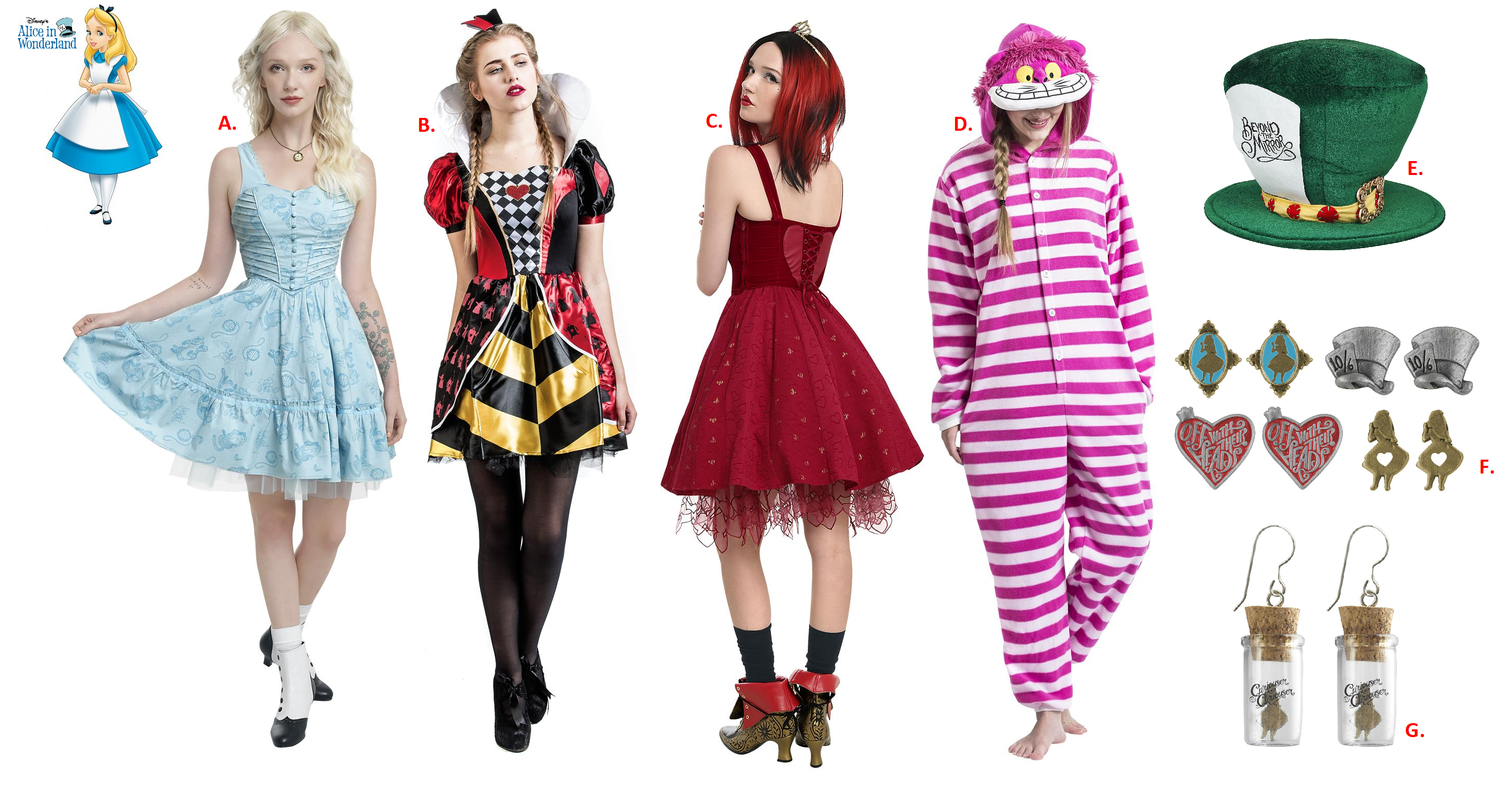 alice in wonderland cosplay ideas from emp