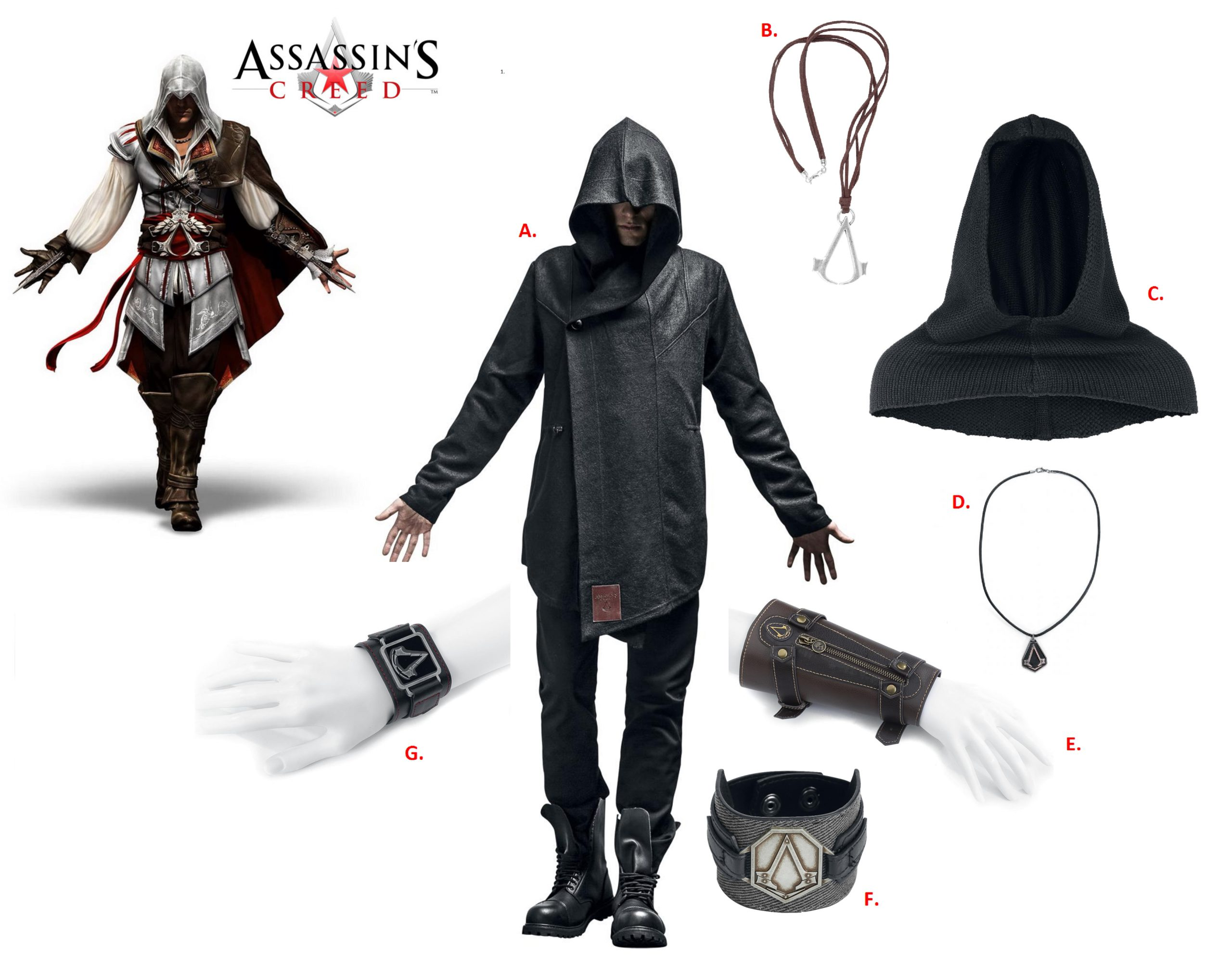 assassins creed merchandise collage