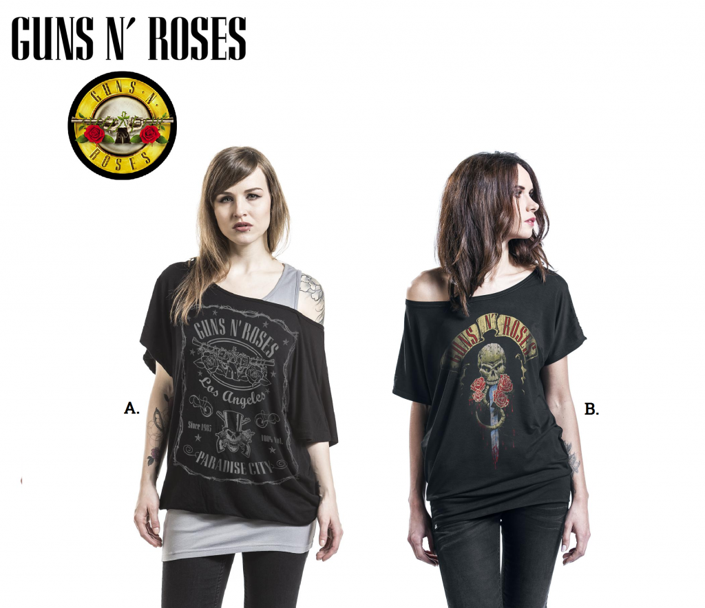 guns and roses tops for women