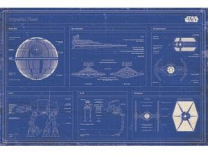 imperial fleet blueprint poster