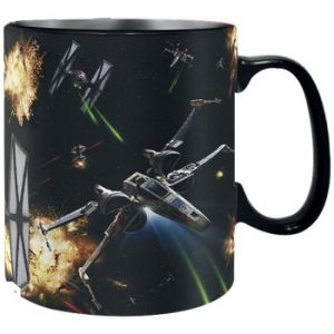 space battle heat change mug
