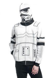 stormtrooper cosplay hoodie with hood up