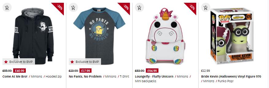 despicable me merchandise at emp