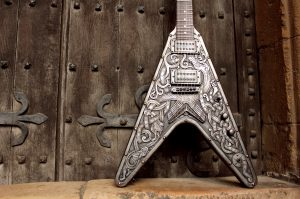 Custom EMP Viking V guitar