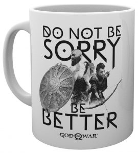 god of war mug