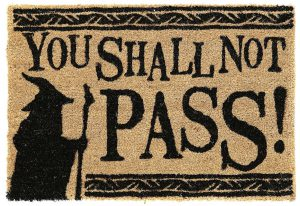 thou shalt not pass doormat
