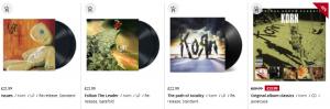 korn albums at emp